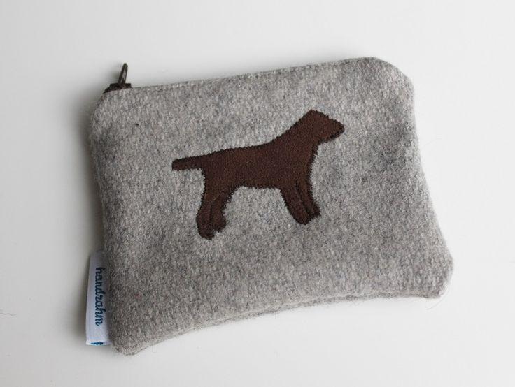 """Geldbörse """"Labrador braun"""" von handzahm auf DaWanda.com"""