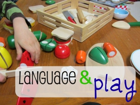 "{Developing Language through Play} ""Learning can be so sneaky. . . that no one even knows they're learning. They're just playing with their parents, and having a good ol' time."" How do you sneak learning into your everyday play?"
