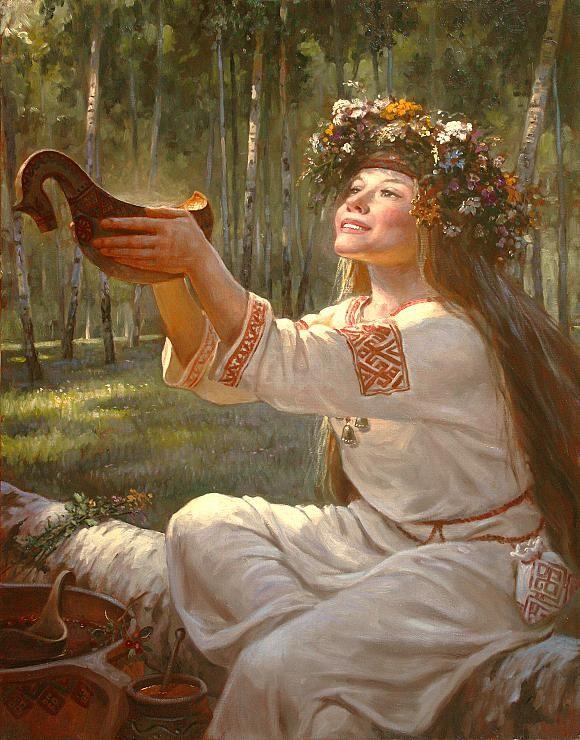 Surits (- in Slavic mythology - the sun goddess of joy, fun and light (surya drink (honey Pitney)). Wife of hops. Daughter Dazhbog.)