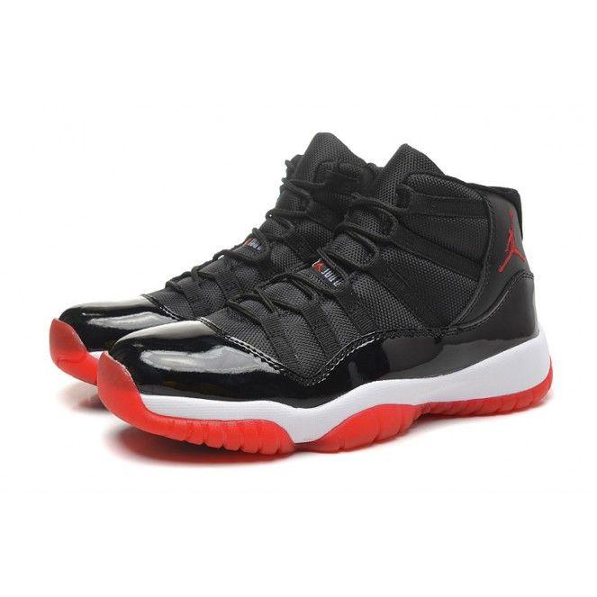 air jordan 11 basketball shoes black red