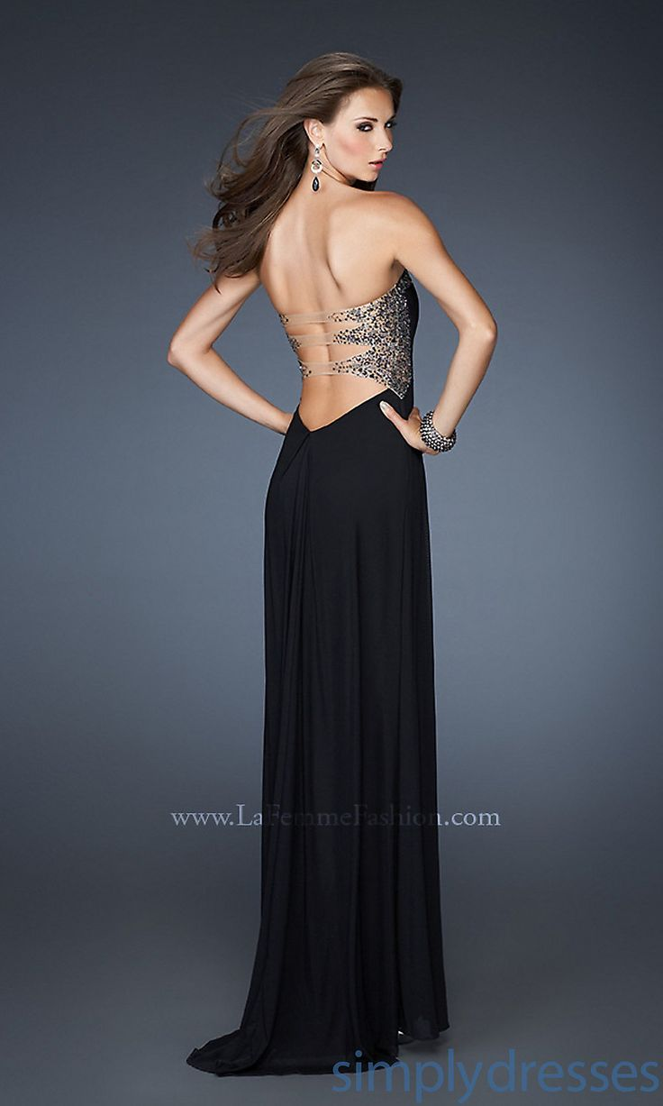 always love backless | Long Strapless La Femme Dress, Backless Prom Gown- Simply Dresses
