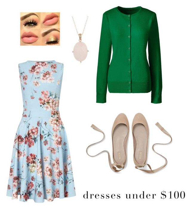 """floral dress"" by dilley818415 on Polyvore featuring Miss Selfridge and Lands' End"