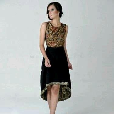 Dress batik simple goes to wedding party