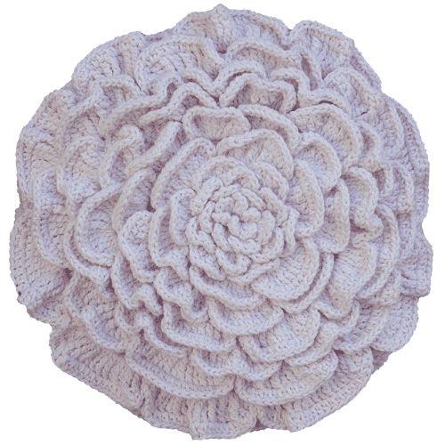 Videos Ensinam a Fazer Linda Almofada de Flor em Crochê Passo a Passo