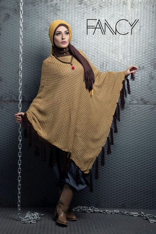 blanket poncho hijab fashion, Winter poncho trends by fancy store http://www.justtrendygirls.com/winter-poncho-trends-by-fancy-store/