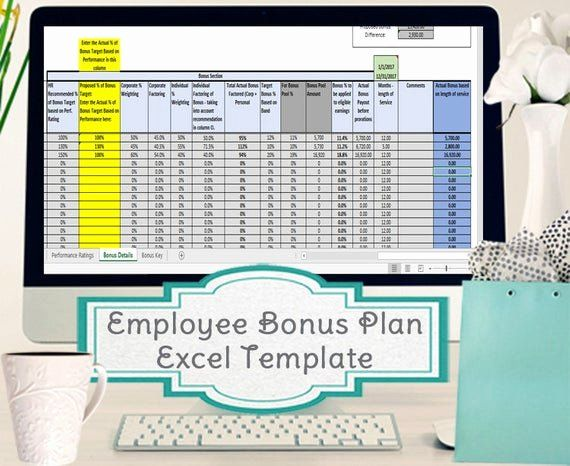 Bonus Plan Template Excel Beautiful Employee Bonus Excel Template