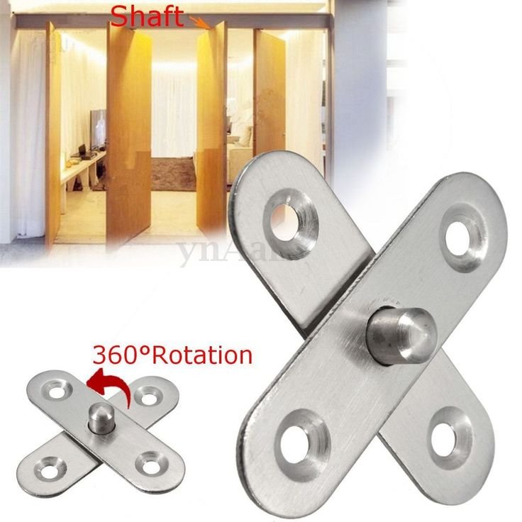 360° Rotating 56mm Length Hardware Stainless Steel Cupboard Door Pivot Hinges