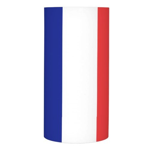 France flag French tricolore tall flameless candle