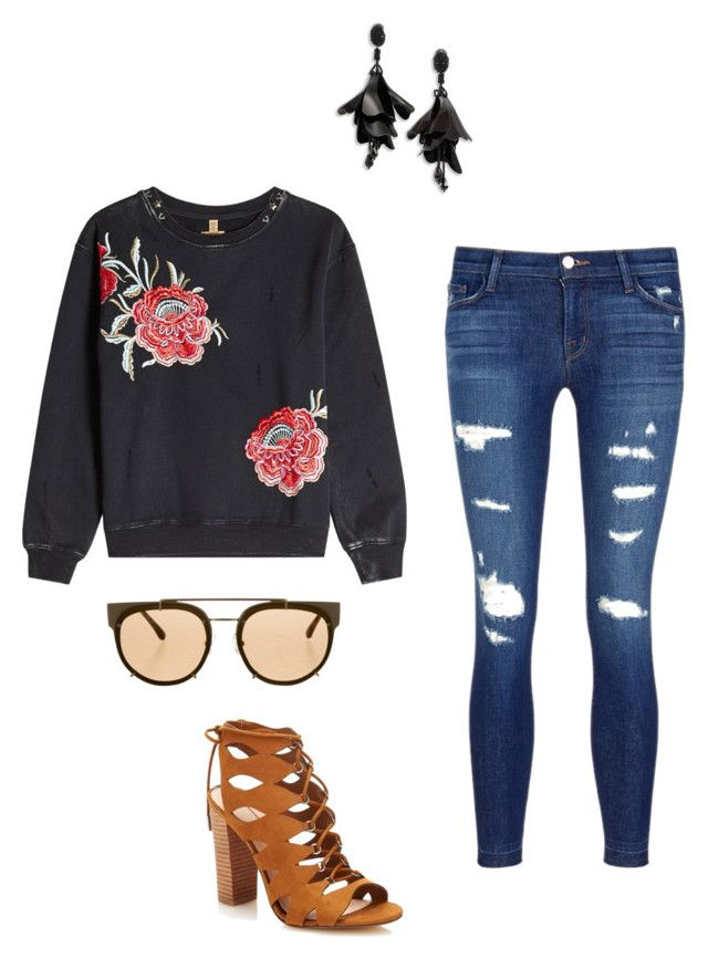 """""""Late Night Out"""" by tarsha-ismeron ❤ liked on Polyvore featuring True Religion, J Brand, Vera Wang and Oscar de la Renta"""