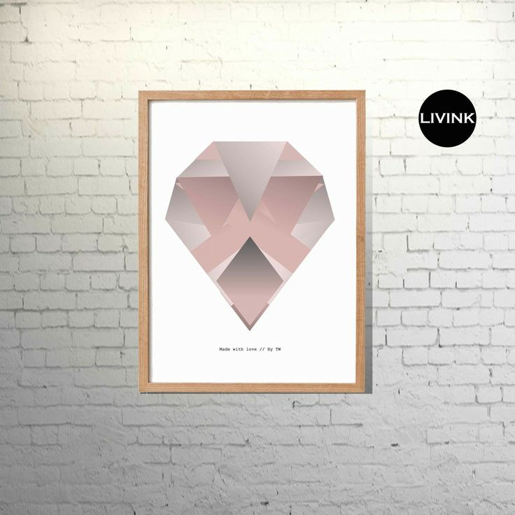 A4 Graduated diamond - pink via LIVINK. Click on the image to see more!