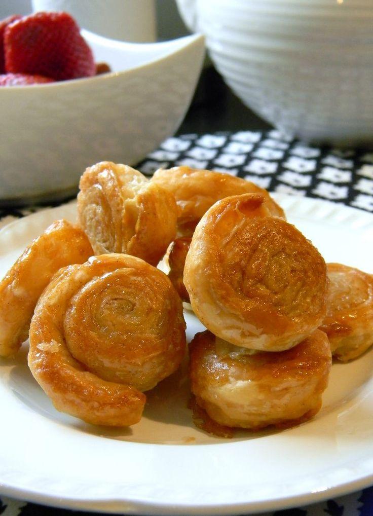 Cinnamon Sugar puff pastry wheels recipe
