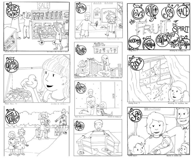Printable Fruit Of The Spirit Coloring Book For Kids