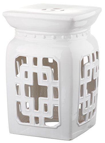 Safavieh Castle Gardenu0027s Collection Glazed Ceramic Antique White Beijing Filigree Garden Stool Safavieh /  sc 1 st  Pinterest & 70 best Garden stool images on Pinterest | Ceramic garden stools ... islam-shia.org