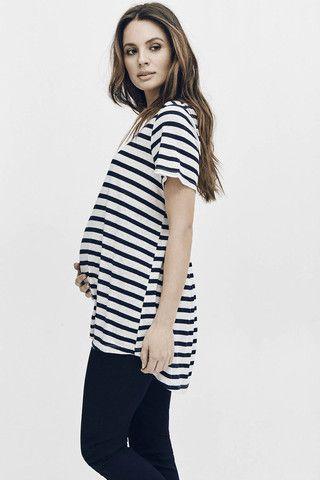 BISOU Stripe Maternity Tee