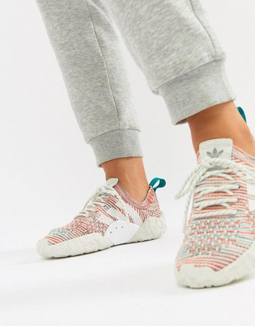 new product ad8bb 2d2ed adidas Originals F 22 Primeknit Trainers In Off White – She s Buy
