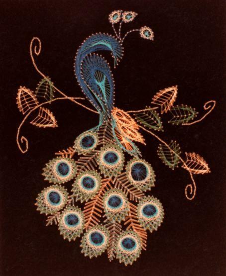 Peacock String Art