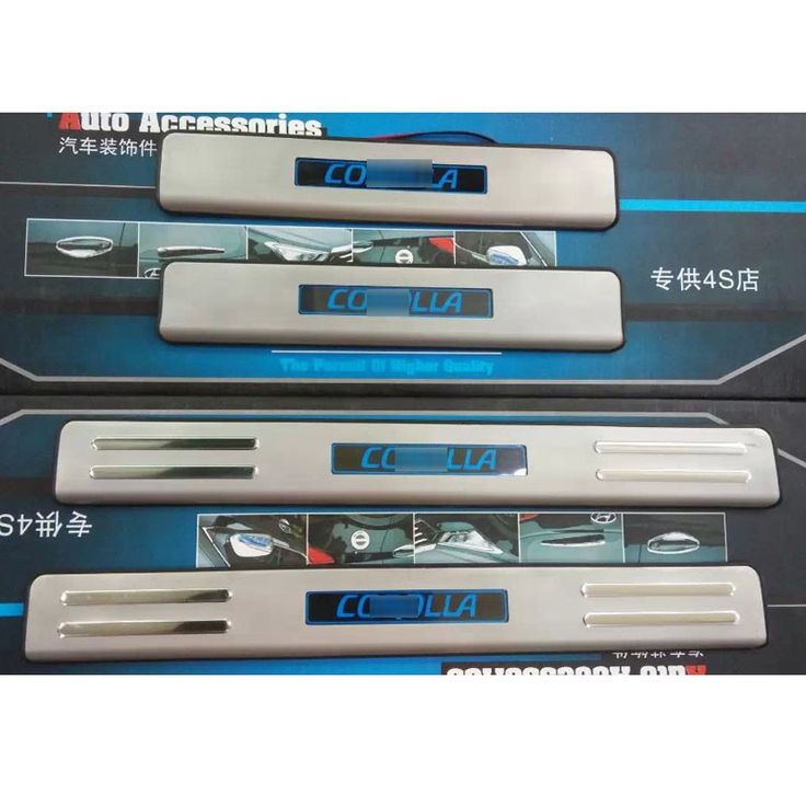 Stainless Steel LED Door Sills Scuff Plate For Toyota Corolla 2014 Car Accessories