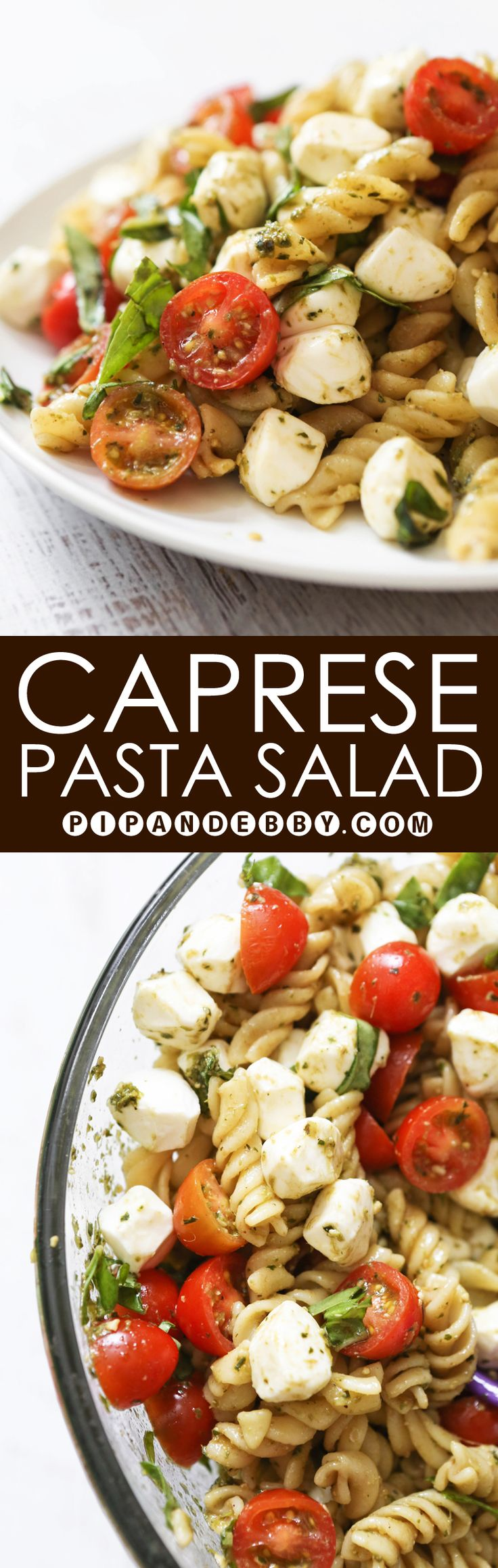 Caprese Pasta Salad - This perfect combination of ingredients is great as an appetizer or a salad.