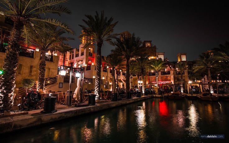 Dubai Madinat Jumeirah at Night