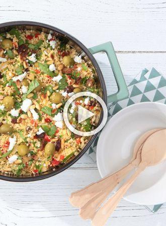 Snel en makkelijk: Couscous met spinazie en munt
