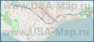 Подробная карта города Санта-Барбара