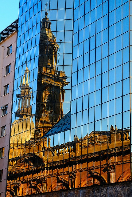 Old and new, Santiago, Chile