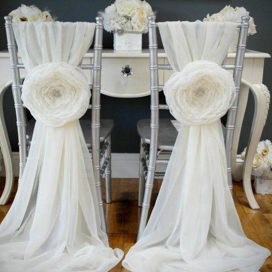 DIY wedding chair sashes for your wedding. Easy tutorial ...