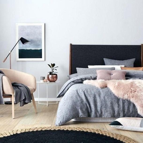 Navy Bed Frame Di 2020 Ide Kamar Tidur Kamar Tidur Interior Rumah