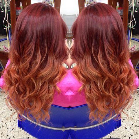Resultado de imagen para cabello castaño rojizo cobrizo