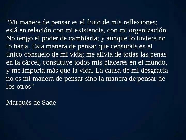 Boom-Marqués de Sade.