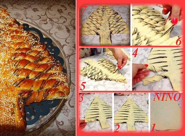 People come up with so many creative ideas and for sure the braided nutella Christmas tree bread is one of them! Imagine how great would this look on the table