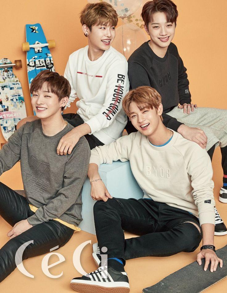 Kuanlin, Jiseong, Woojin, Daniel (Wanna One) - Céci Magazine August Issue '17