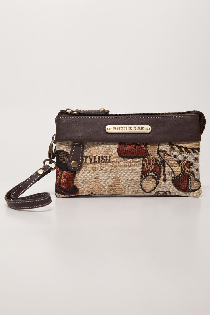 Nicole Lee Brown Stylish Pouch