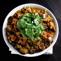 Eggplant Curry - Indian Eggplant Curry, excellent vegan dinner or side dish.