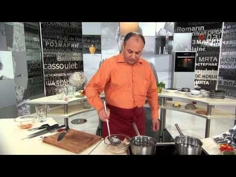 Видео рецепты - Кухня Китая. Кальмары в чесночном соусе с лапшой