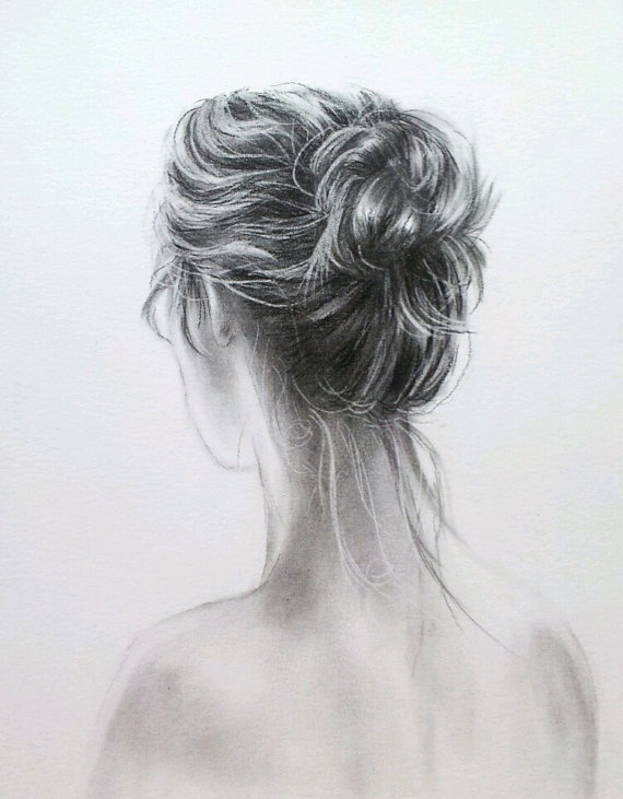 "Original charcoal drawing of ""Marjorie"" - via Etsy."