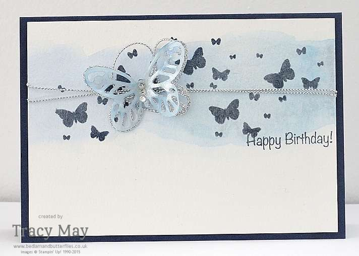 Stampin' Up! Bold Butterfly Framelits & Perpetual Birthday Calendar card