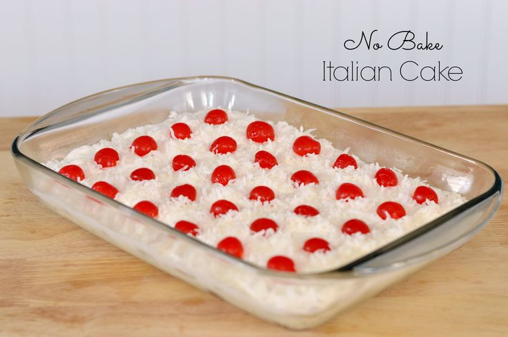 This no bake dessert recipe for Italian Cake is a snap to put together and the result is a delicious tropical taste explosion in your mouth.