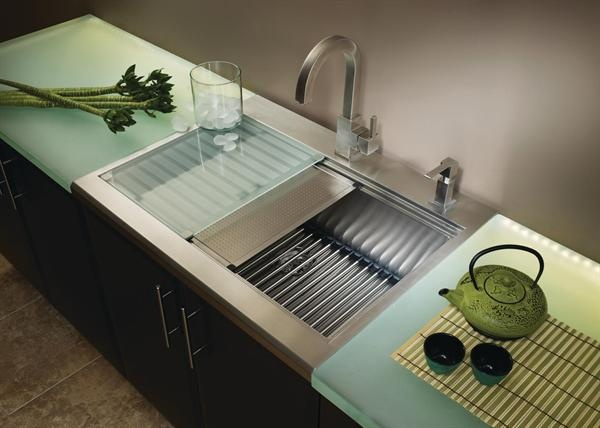 american standard undermount single basin sink prevoir has great accessories like cutting boards colanders - Small Kitchen Sink With Drainer