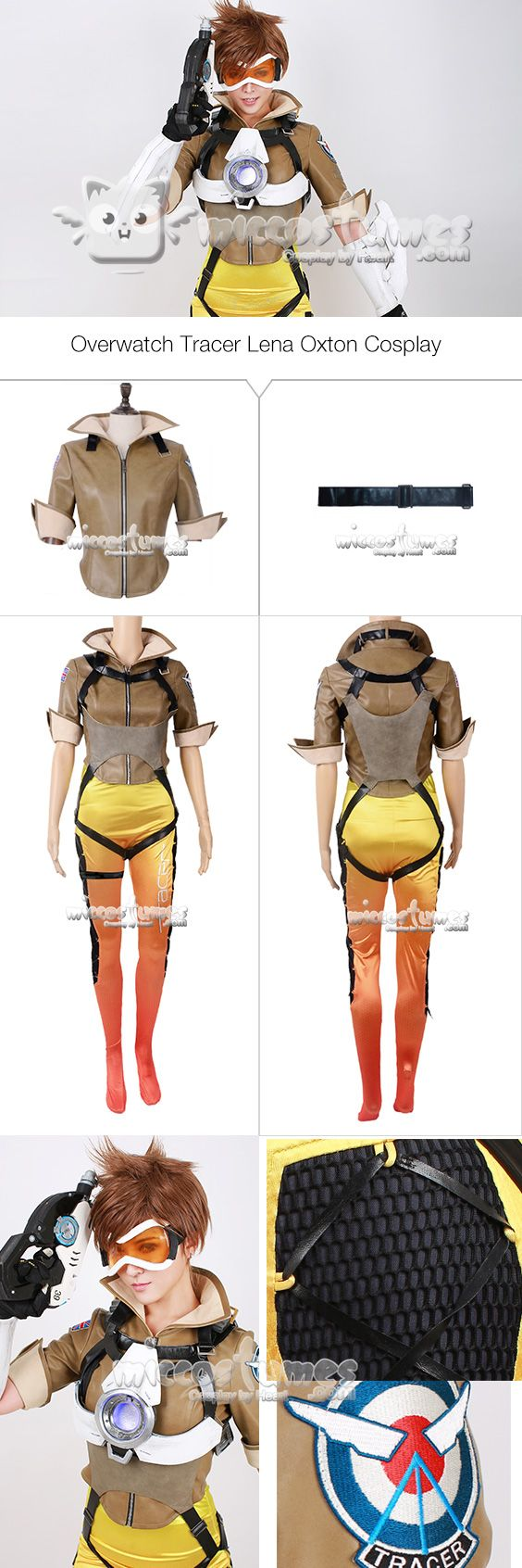 More details of Overwatch Tracer Lena Oxton Cosplay Costume  #cosplay #miccostumes #Overwatch #tracer #Cosplaycostumes #LenaOxton #Costume