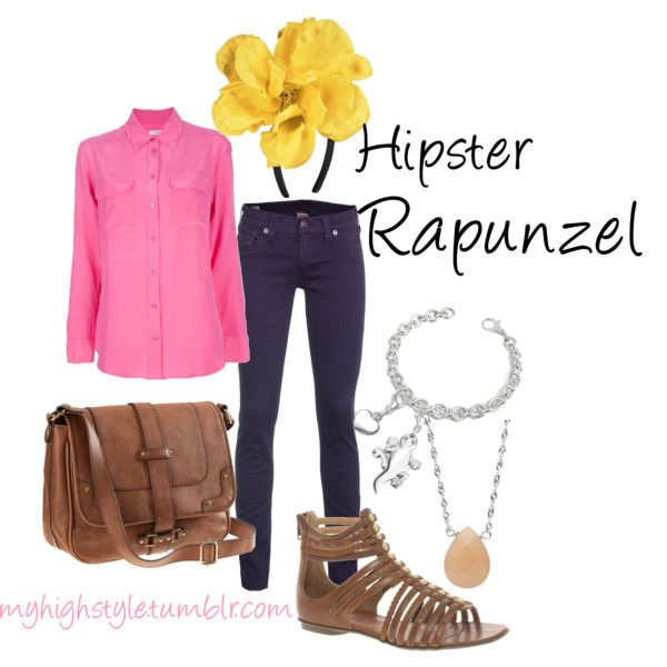 """Hipster Rapunzel"" by fluteloop17 on Polyvore Shirt- farfetch.com pants - jades24.com shoes: asos.com bag: hm.com"