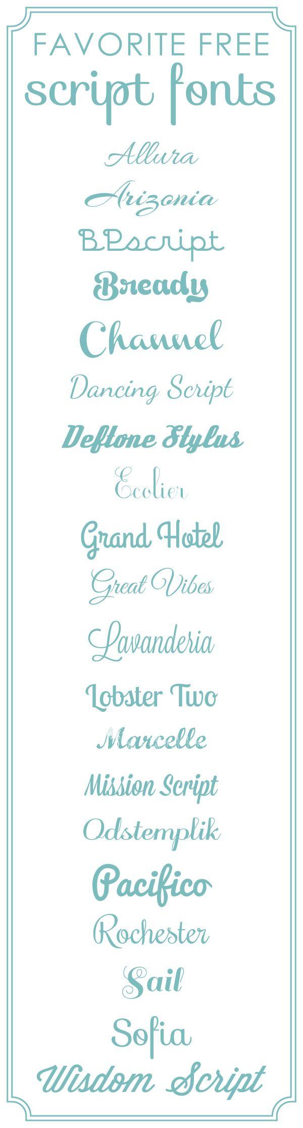 Favorite Free Scrapbook Fonts | Script from @SuzyQ Scraps