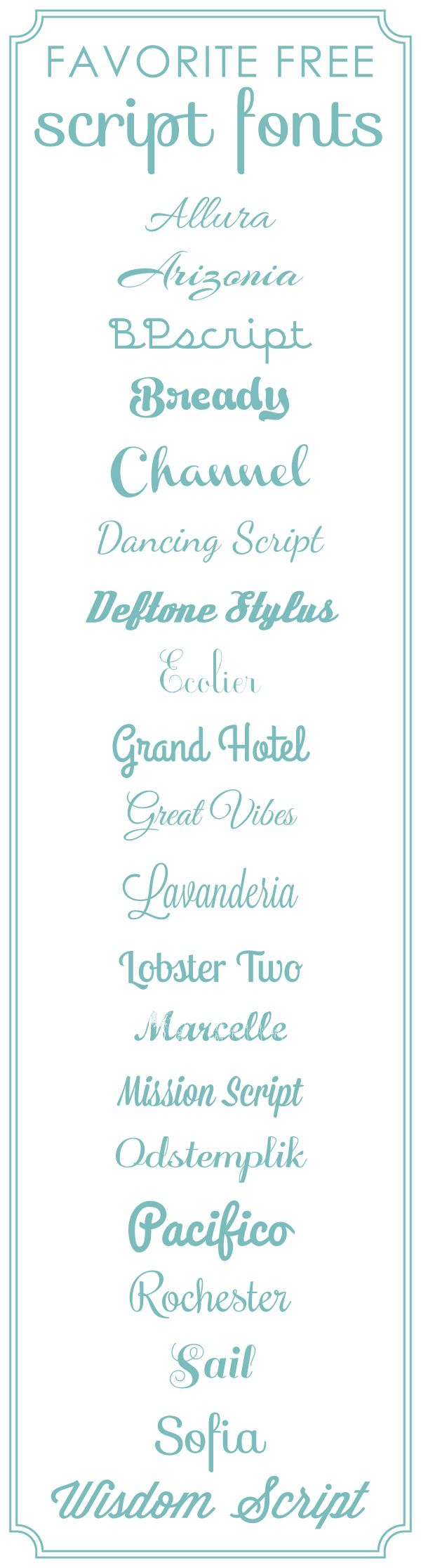 Favorite Free Scrapbook Fonts | Script from @SuzyQ Scraps
