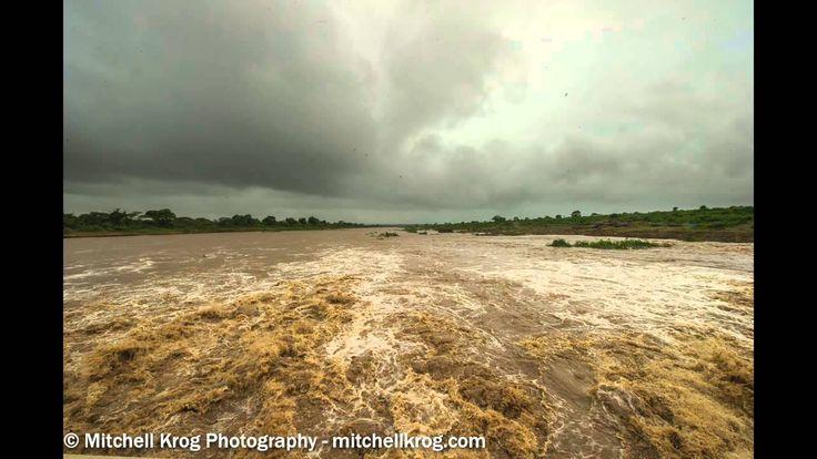 Sabie River Coming Down in Flood - December 2014 - Kruger Park, South Af...