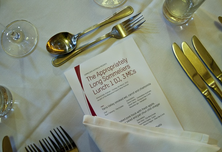 The Wine Guide Blog - The Appropriately Long Sommelier Lunch 2012