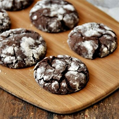 Chocolate Olive Oil Crinkle Cookies. I love chocolate and olive oil ...
