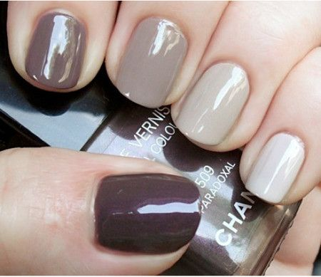 Grey scale CHANEL nails