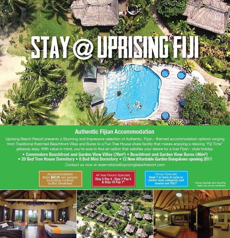 Looking for accommodation in Pacific Harbour? Check us out at @uprisingfiji