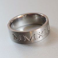 roman numeral engraved ring