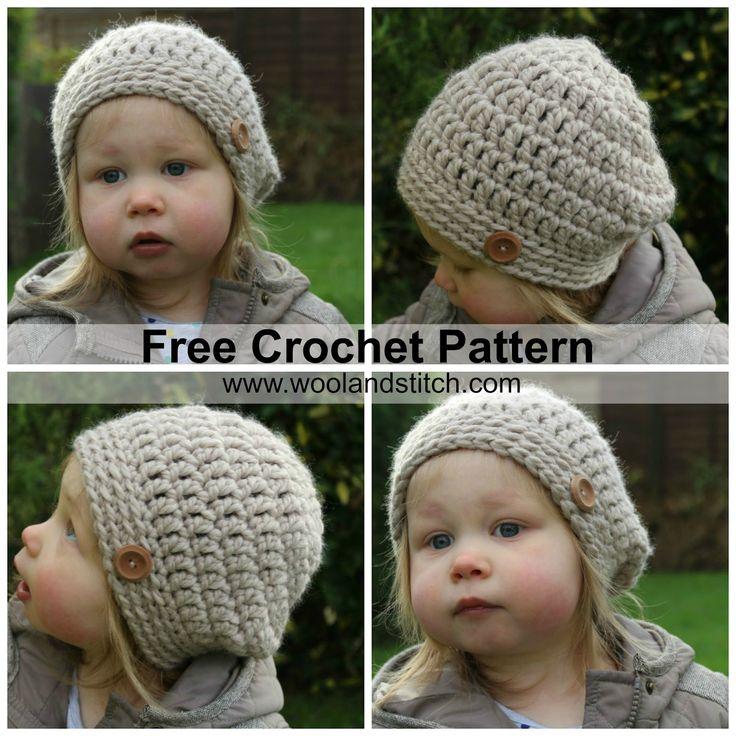 Wool and Stitch: Mini Kids Slouch Hat - Free Crochet Pattern